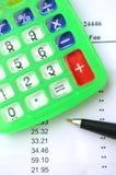 Costos de balance Imagen de archivo libre de regalías