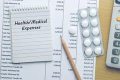Costos de salud del planeamiento Fotos de archivo libres de regalías