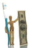 Costos del cuidado dental Imágenes de archivo libres de regalías