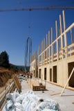 Costruction della casa di legno Fotografia Stock Libera da Diritti