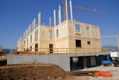 Costruction della casa di legno Immagine Stock