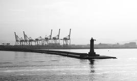 Costruction dock of naples city Royalty Free Stock Photo