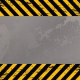 Costruction warning stripes. Grunge metal plate with costruction warning stripes Royalty Free Stock Images