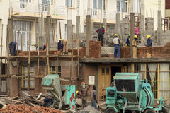 Costruendo in costruzione in Africa Fotografie Stock