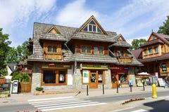 Costruendo, stile regionale di architettura, Zakopane Immagini Stock