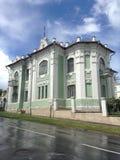 Costruendo - un palazzo a due piani di pietra, che ha appartenuto al qui Immagine Stock