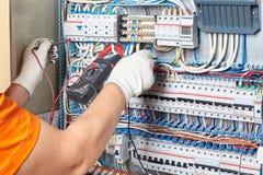 Costruisca il contenitore ad alta tensione di circuito trifase di potere delle prove con la m. Fotografia Stock