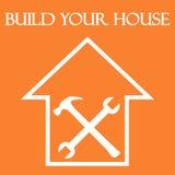 Costruisca la vostra casa Immagini Stock