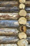 Costruito con parete di legno Fotografie Stock