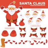 Costruttore del carattere del Babbo Natale con le parti del corpo di ricambio royalty illustrazione gratis
