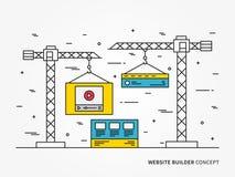 Costruttore del sito Web royalty illustrazione gratis