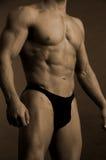 Costruttore di corpo maschio Fotografie Stock Libere da Diritti