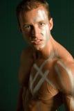 Costruttore di corpo maschio muscolare Fotografia Stock Libera da Diritti