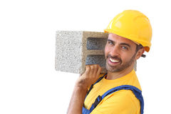 Costruttore o muratore sicuro Immagine Stock Libera da Diritti