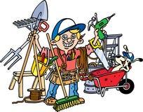 Costruttore occupato illustrazione di stock