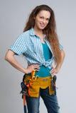 Costruttore Woman Fotografie Stock Libere da Diritti