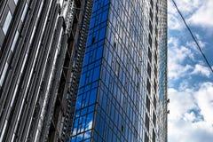 Costruttori della costruzione più alta a Kiev sugli impianti ad alta altitudine Immagine Stock Libera da Diritti