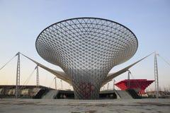 Costruzione 2010 dell'Expo del mondo di Schang-Hai Immagini Stock