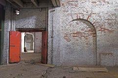 Costruzione abbandonata del deposito Fotografia Stock Libera da Diritti