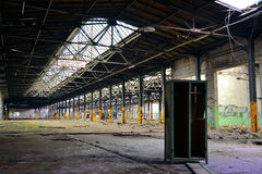 Costruzione abbandonata della fabbrica Fotografia Stock