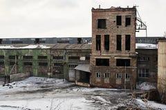 Costruzione abbandonata della fabbrica Immagini Stock Libere da Diritti
