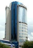 Costruzione ad alta altitudine sul quay Presnenskaya Immagini Stock
