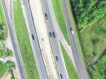 Costruzione aerea del passaggio da uno stato all'altro 10 I10 della strada principale Immagini Stock Libere da Diritti