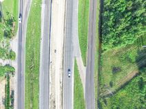 Costruzione aerea del passaggio da uno stato all'altro 10 I10 della strada principale Immagine Stock