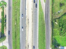 Costruzione aerea del passaggio da uno stato all'altro 10 I10 della strada principale Fotografie Stock Libere da Diritti