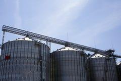 Costruzione agricola dell'elevatore di granulo per la memoria e la ferrovia del cereale Immagini Stock Libere da Diritti