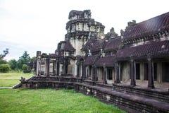 Costruzione al portone di Angkor Wat Fotografia Stock Libera da Diritti