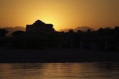 Costruzione al tramonto Fotografia Stock Libera da Diritti