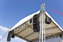 Costruzione all'aperto della fase di concerto Immagini Stock Libere da Diritti