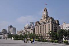 Costruzione alla diga a Shanghai Fotografie Stock Libere da Diritti