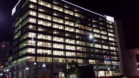 Costruzione alla notte Fotografia Stock Libera da Diritti