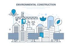 Costruzione ambientale Case della costruzione, siti Protezione dell'ambiente, risorse di eco illustrazione di stock
