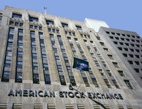 Costruzione americana di borsa valori Immagini Stock Libere da Diritti