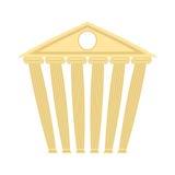 Costruzione antica antica Costruzione con le colonne Illustra di vettore Immagini Stock Libere da Diritti