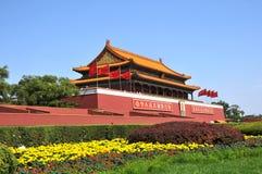 Costruzione antica cinese del cancello del TianAnMen Fotografia Stock Libera da Diritti