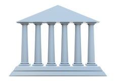 Costruzione antica con 6 colonne Immagini Stock Libere da Diritti