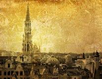 Costruzione antica della città in Europa fotografia stock libera da diritti