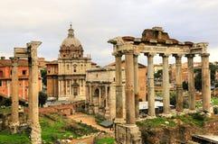 Costruzione antica di rovina di Roma della città di Roma Immagine Stock Libera da Diritti