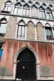 Costruzione antica nella città di Venezia Fotografia Stock