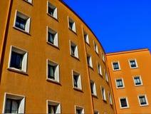 Costruzione arancione Fotografie Stock Libere da Diritti