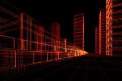 Costruzione architettonica astratta illustrazione di stock
