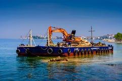 Costruzione artificiale di Shoreline Fotografia Stock
