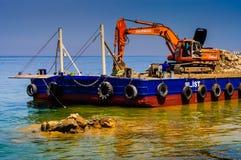 Costruzione artificiale di Shoreline Fotografie Stock Libere da Diritti