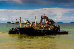 Costruzione artificiale di Shoreline Fotografia Stock Libera da Diritti