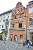 Costruzione augusta 21,2014-Historic di Kaunas a Kaunas in Lituania Fotografia Stock Libera da Diritti