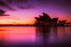 Costruzione australiana del punto di riferimento, Sydney Opera House Immagini Stock